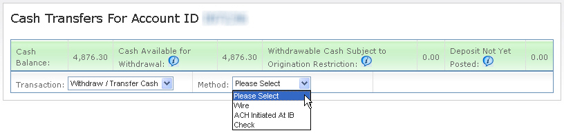 Withdraw Cash